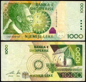albania 1000 leke 2001 (p-69)