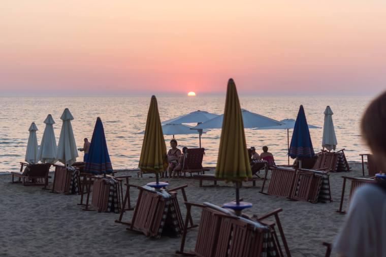 plaża Golem - Durres foto Krystian Pilawa